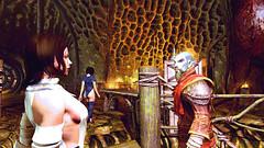 131 (Beth Amphetamines) Tags: wallpaper tower werewolf dark back screenshot time wizard beth elf armor there brunette shelley throne traveler meinthegame dunmer skyrim telvanni hidearmor neloths mycustomfollower