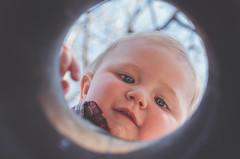 peek-a-boo (L. Paul) Tags: park baby child hole peekaboo sony son boo littleboy geode 6300 lakegeodestatepark sonya6300