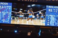 End of a Thunder game (radargeek) Tags: basketball cheerleaders okc nba oklahomacity scoreboard okcthunder