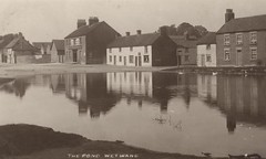Wetwang village pond 1910 (archive ref PO-1-153-2) (East Riding Archives) Tags: street old house fish black public shop century vintage countryside early swan pond pub inn village postcard yorkshire main images villages historic east riding photographs photograph postcards chip 20th wetwang