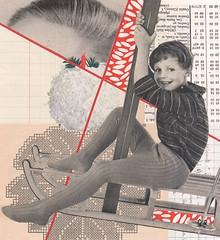 pom pom (kurberry) Tags: collage cutpaste cutandpaste vintageephemera analoguecollage