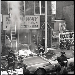 20160414-throwback-thurs-1974-002 (Official New York City Fire Department (FDNY)) Tags: york nyc rescue water brooklyn vintage fire smoke flames firefighting 1970s firefighter fdny tbt new city fire engine truck thursday suppression throwback