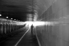 Roermond (photogo.pl) Tags: light people bw man tunnel roermond