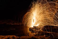Lana (Rubn Aranda) Tags: madrid espaa lana night canon fire nocturna 5d fuego acero markiii