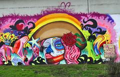 P1050526b - Wallpainting (JB Fotofan) Tags: streetart lumix graffiti mural colorful grafitti frankfurt panasonic wallpainting bunt wandbild bockenheim gemlde fz1000