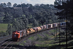 Only half way through its life (Bingley Hall) Tags: railroad train transport engine rail railway australia victoria transportation locomotive broadford freight ml2 emd vline broadgauge b76 clydeengineering rpauvicbclass rpauvicbclassb76 railpage:class=18 railpage:loco=b76 railpage:livery=5 567b
