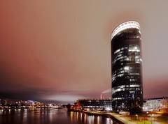 Westhafen Tower. (mybeardandmypenguin) Tags: tower germany long exposure frankfurt westhafen langzeitbelichtung