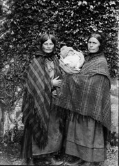 Mother, daughter and baby. Victorian Glass Negatives (Parsonago) Tags: old uk family baby glass vintage found scotland poor 1800s victorian scottish negative tartan scottland 1890s 1880s foundphotouk