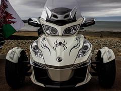 Spider (mlomax1) Tags: lighting wales canon spider seaside flag cymru victorian motorbike cycle llandudno extravaganza goldwing paintjob ledlights eos600d
