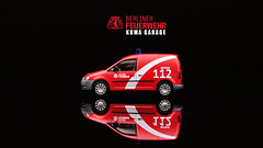 Berliner Feuerwehr (Pumpkin Kuma) Tags: berlin scale vw truck volkswagen fire model wiking ho 187 feuerwehr caddy berliner lkw pkw herpa