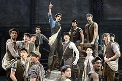 "Joey Barreiro (Jack Kelly) and the company of the Broadway Sacramento presentation of  ""Newsies"" at the Sacramento Community Center Theater April 12 – 17, 2016.  ©Disney.  Photo by Deen van Meer."