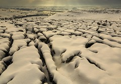 Thwaite Scar Under Snow (Explored) (sunstormphotography.com) Tags: winter snow cold ice landscape yorkshire limestone yorkshiredales crummackdale limestonepavement polarisingfilter canon24105l yorkshiredalesnationalpark ndgradfilter thwaitescar canon5dmark3