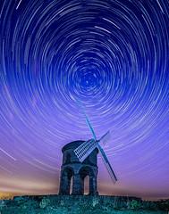 Star Trail (derekgordon1) Tags: longexposure light building mill windmill stone night stars landscape outside outdoors nikon wideangle nighttime chesterton polaris northstar wideaperture lighttrail startrail sigma1020 chestertonmill d7000 starstax