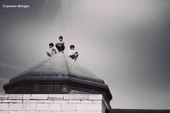 F.R.I.E.N.D.S (Puneet Dhingra) Tags: street travel friends sunset blackandwhite nature canon blackwhite delhi streetphotography silence 1855mm puneet natgeo 1000d puneetdhingraphotography