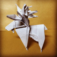 Origami Aov Time! Moose by John Montroll #おりがみ #折り紙 #二本 #日本 #종이접기 #moose #papiroflexia #origami #paper #paperfolding #fold #foldedbyme #foldoftheday #instaorigami  #Aov #Winter #Altamira #Miranda #January #30 #2016 #Caracas #Venezuela #chicoquick (chicoquick) Tags: winter 30 paper origami venezuela january moose caracas 日本 fold miranda paperfolding papiroflexia altamira 2016 おりがみ 折り紙 aov foldedbyme 二本 종이접기 chicoquick foldoftheday instaorigami