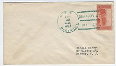 USCS - USN - 1934 11 29 - USS PARTRIDGE (Am 18) - to Donald Henry - front (BlackShoe1) Tags: thanksgiving ship vessel stamp cover thanksgivingday envelope cachet 1934 partridge postmark minesweeper stampcollecting uscs am18 returnaddress rahwaynj cornercard donaldhenry universalshipcancellationsociety navalphilately lapwingclassminesweeper usspartridgeam18 lapwingclass