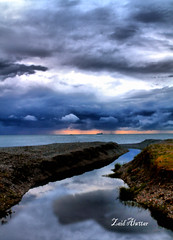 The most beautiful moments (zaid_alwttar) Tags: sea black nature clouds land scape batumi