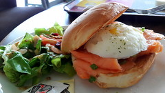 Egg & Salmon Sandwich (Dex) Tags: food salad yummy cafe egg salmon sandwich malaysia penang coffeebean gurneyplaza
