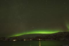 Northern Lights in Ringvassya (Echoes89) Tags: norway circle stars lights norge arctic aurora northern norvegia borealis artico boreale ringvassya
