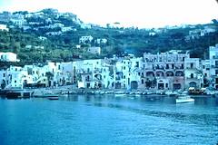 Italy- 1954 (192)-Harbor of Capri from the Ship- Bay of Naples (foundslides) Tags: italy italia europe europa 1953 1950s irmalouisecarter foundslides kodak kodachrome slide slides photos photo pictures pics pix retro vintage tourist tourists 50s analog slidecollection irmarudd