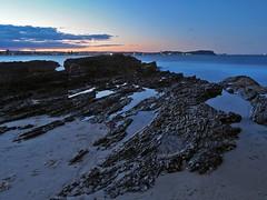 Sunset over Currumbin beach (Lazy Win) Tags: longexposure sunset seascape beach landscape rocks australia australianlandscape goldcoast currumbinbeach olympusomd olympusomdem5m2 em5m2
