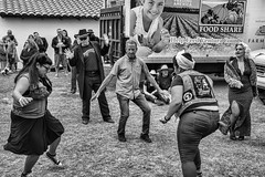 When Grandpa Caught Boogie Fever (Culture Shlock) Tags: street people men dance women grandfather grandpa age boogie generations youngandold