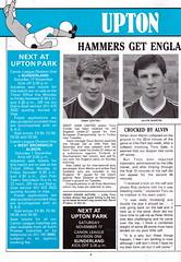 West Ham United vs Everton - 1984 - Page 4 (The Sky Strikers) Tags: park west hammer canon one official kodak united ham division league programme upton everton