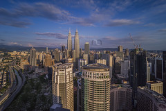 A Moment In Time (Mohamad Zaidi Photography) Tags: city longexposure blue sky cloud color nature yellow skyline architecture landscape photography cityscape outdoor kualalumpur cloudscape twintower photocomposition kualalumpurcitycenter cloudtrail gnd09 sonyjapan sonymalaysia nd10stop runningcloud mohamadzaidiphotography sonya7r ultrawidemacro laowa15mm