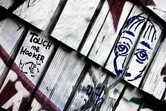 Touch Me Hooker (TwinCitiesSeen) Tags: sanfrancisco california graffiti mission clarionalley tamron2875mm canont3i twincitiesseen