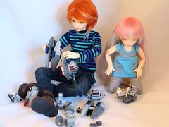 Playing together (MarasiColms) Tags: starwars lego bjd fairyland msd ante yosd minifee siean littlefee anteelf sieanelf