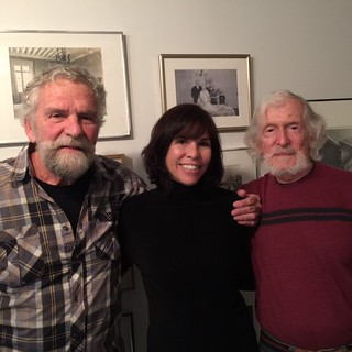 Artists Bob Thiele with daughter Kirsten and Jim Couper at the Helen Kohen tribute at Bridge Red studios