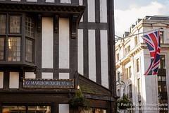 Tudor Building and Union Flag on Great Marlborough, London