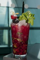Winter Berry Mojito (Vortex Photography - Duncan Monk) Tags: uk winter sky cold building london ice glass westminster garden berry berries blackberry drink britain united mint straw kingdom cocktail mojito raspberry rum attraction skygarden