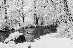 Down by the river (sevemiller) Tags: snow nature newjersey southmountainreservation