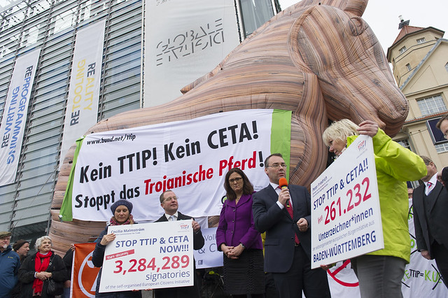 Trojan Horse joins anti-TTIP action in East Germany