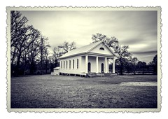 Spann Methodist Vintage B&W photo (RandomConnections) Tags: church cemetery southcarolina ward methodist spannmethodistchurch