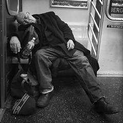 """12:01 AM """"Washington"""" (ShelSerkin) Tags: street nyc newyorkcity portrait blackandwhite newyork underground subway candid streetphotography squareformat gothamist iphone mobilephotography iphoneography shotoniphone hipstamatic shotoniphone6"""