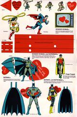 Super Friends Valentines (Tom Simpson) Tags: illustration comics valentine superman card batman batgirl valentinesday superfriends