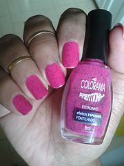 Estalinho  Colorama (ACRibeiro) Tags: glitter nails 2016 colorama pinknailpolish rosachoque pimentinha pulguento hipoalergnico 5free