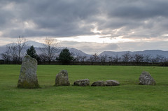 Castlerigg stone circle (Spannarama) Tags: uk snow mountains grass clouds stones lakedistrict hills cumbria peaks keswick stonecircle castlerigg castleriggstonecircle