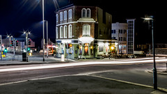 The Hyde Park (Rich Walker75) Tags: city uk longexposure light building night lights pub nightshot traffic plymouth nighttime devon lighttrails traffictrails lighttrail longexposures lightbeam