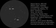 M81-82 - Label (John SA-TX) Tags: major sketch astronomy galaxies ursa m82 m81