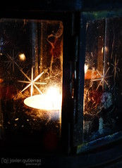 A candle with a star (gjaviergutierrezb) Tags: fire star candle flame