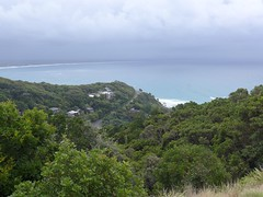 Palm Valley and Byron Bay from Cape Byron (tanetahi) Tags: panorama beach landscape coast rainforest view nsw newsouthwales seashore byronbay headland littoral capebyron northernriversregion