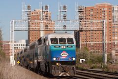 VRE Sounder train at AF (Michael Karlik) Tags: city railroad urban alexandria train transit sound commuter passenger af signal sounder vre f59phi virginiarailwayexpress