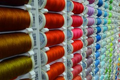 Curtain Shop Threads2 (g crawford) Tags: color colour colors thread spools shop colours cotton curtains kilmarnock crawford cushions bobbins ayrshire