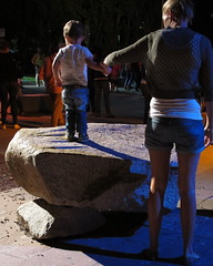 Boy on a boulder (spelio) Tags: march mar kid child australia mum canberra act enlighten 2016 australiancapitalterritory