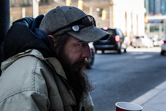 Rush Hour (MorboKat) Tags: city urban toronto downtown homeless business busy rushhour