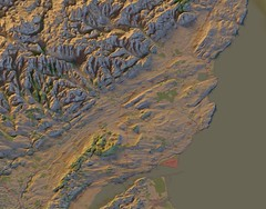 Angus, Orthographic relief map (stevefaeembra) Tags: open map cartography data blender survey ordnance openstreetmap qgis