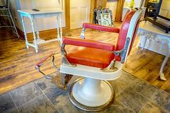 Barber's Chair (gabi-h) Tags: ontario shop vintage floor furniture northumberland tables antiques warkworth barberschair gabih